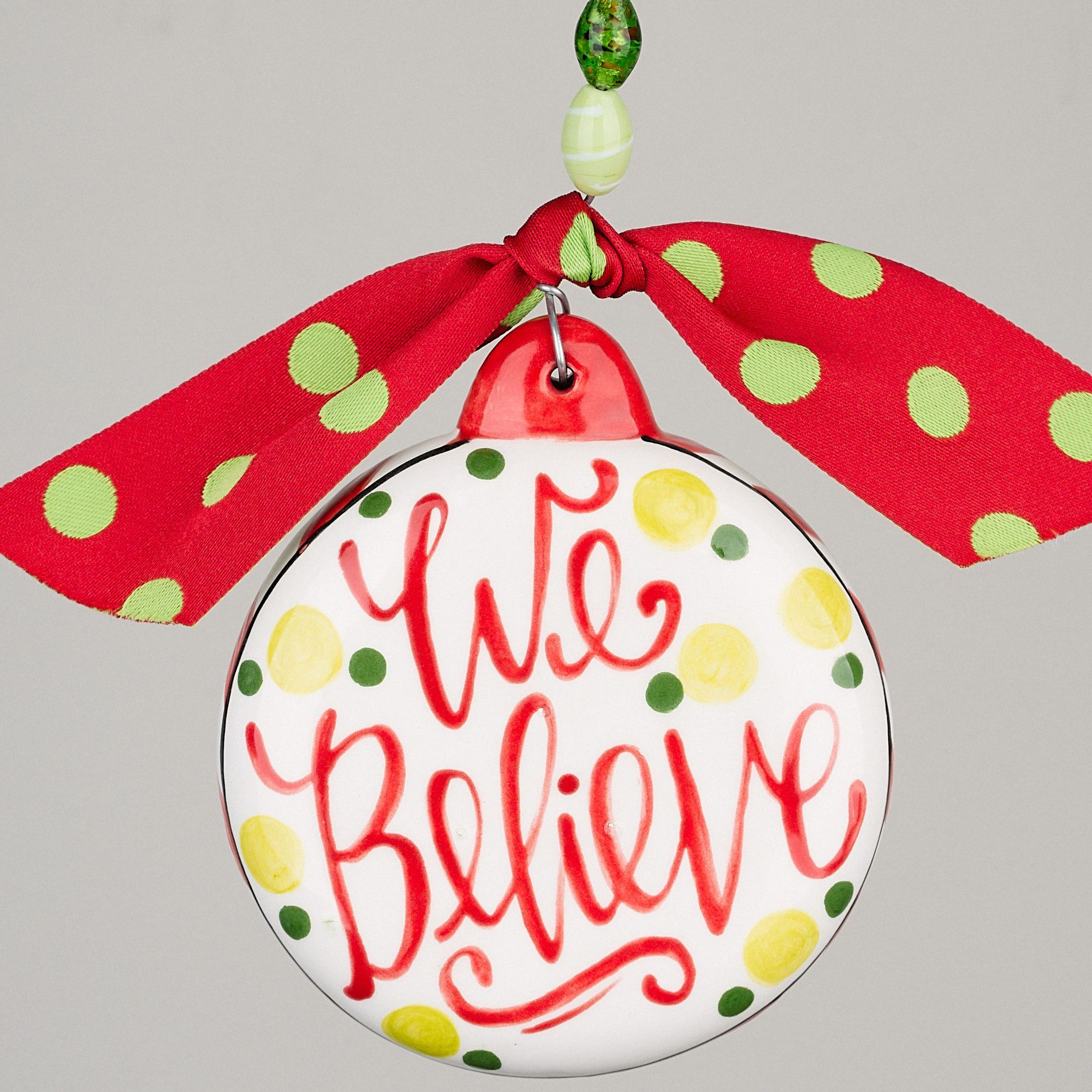 We Believe Boy Elf Puff Ornament