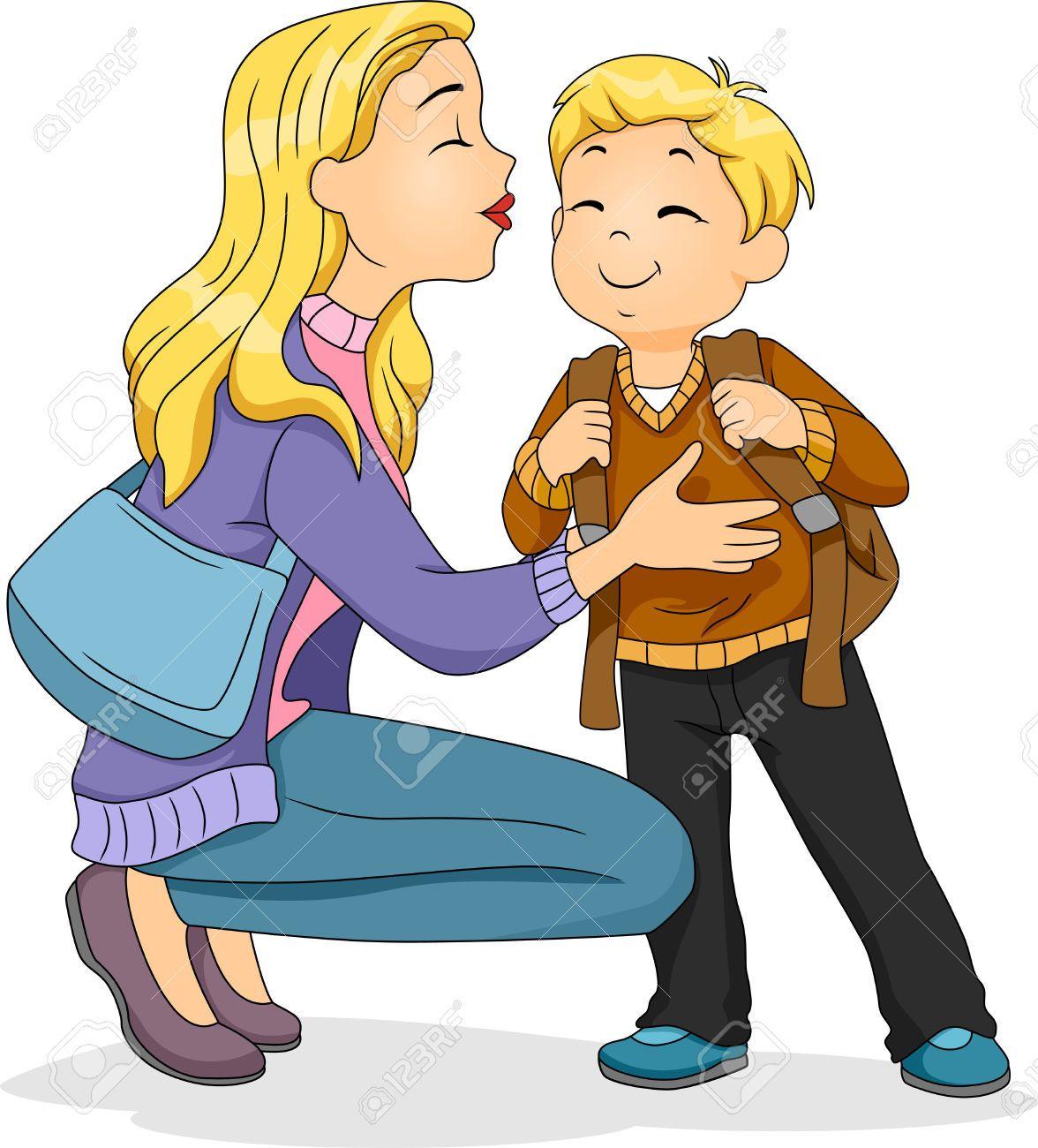 22812367-Ilustraci-n-de-una-madre-cauc-sica-plantar-un-beso-en-la ...