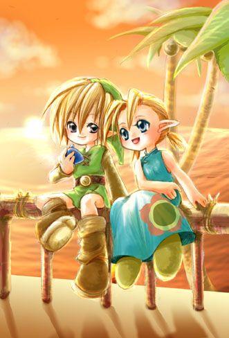 Link & Arielle? (from Zelda: The Wind Waker) - 2002 fanwork