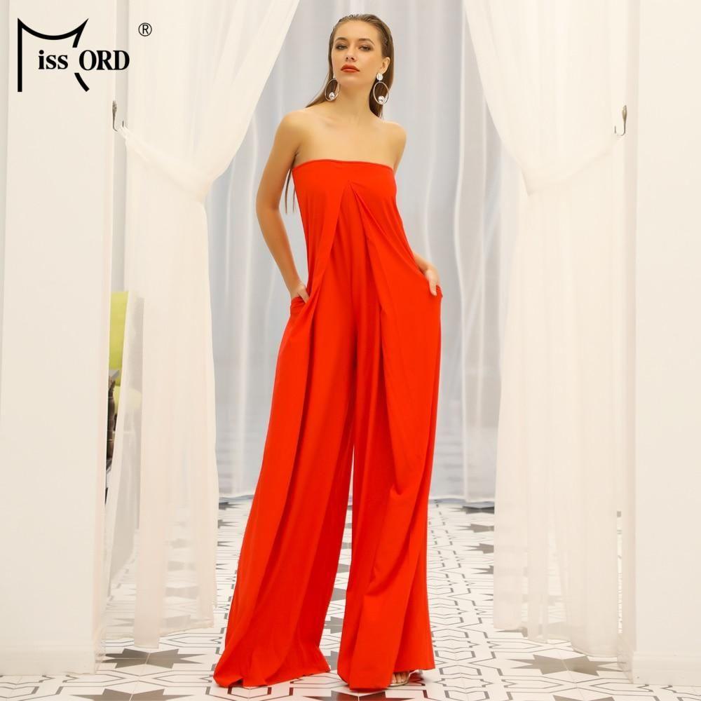 Missord 2019 Women New Summer Sexy Slash Neck Off Shoulder Backless Rompers  Elegant Solid Color Jumpsuit 2d4bb610e2ab