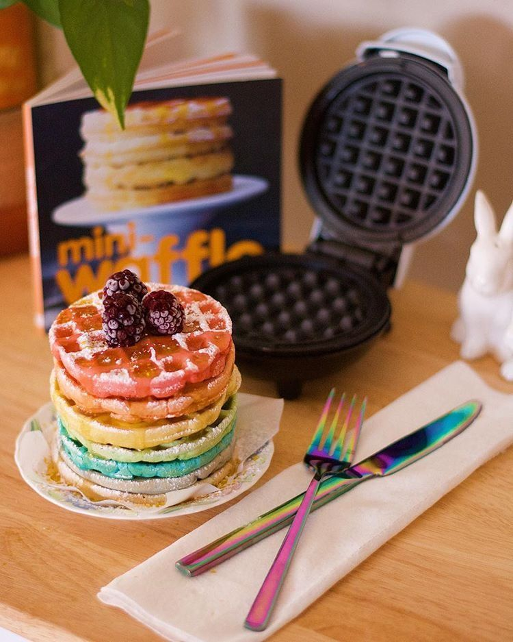 Uohome Instagram Photos And Videos Food Rainbow Waffles Kids Meals