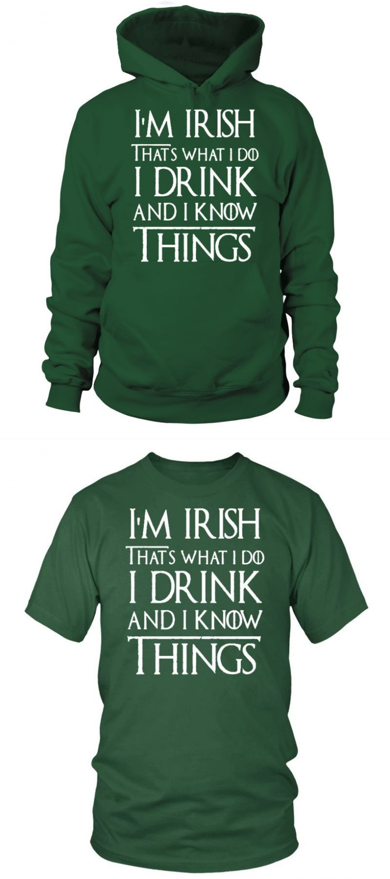 Patrick/'s Day T Shirt Graphic St Paddys Tee I Drink And I Know Things Mens St