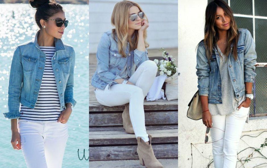 Biale Spodnie I Kurtka Jeasnowa Fashion Outfits Womens Fashion