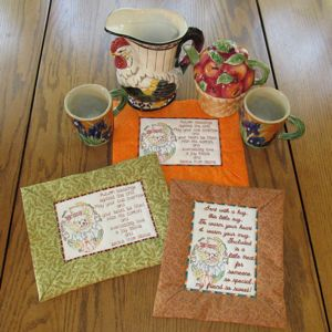 AUTUMN COFFEE COZY MUG RUGS Mini Set-mug rug coffee cozy in the hoop  embroidery design, in the hoop gift embroidery designs, kitchen in the .
