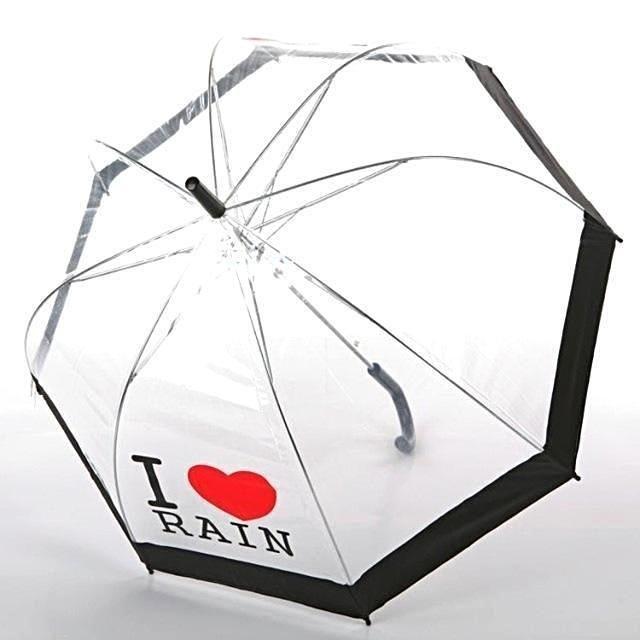 I Love Rain Bubble Umbrella #clearumbrella