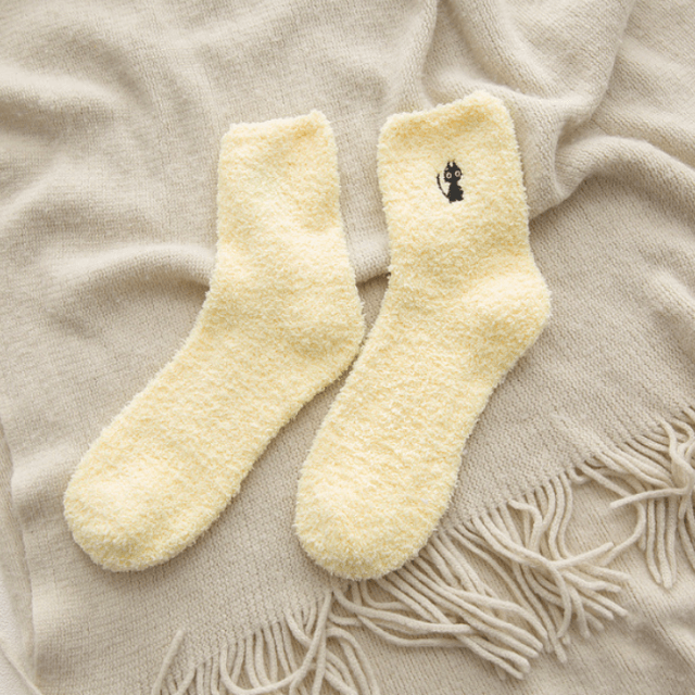 Cat Embroidery Socks Available in 5 Colors in 2020