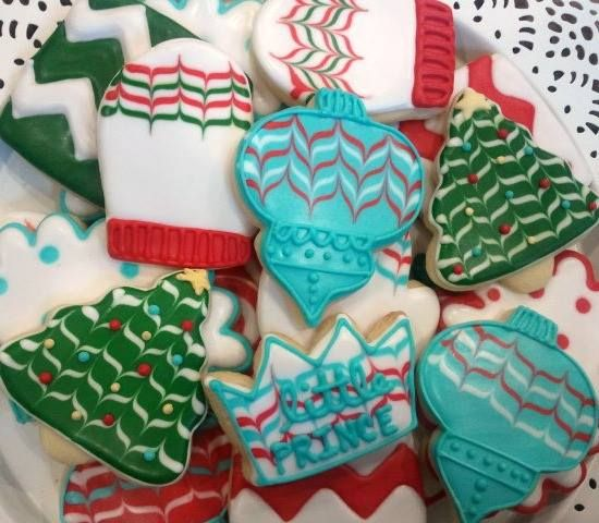 Christmas cookies from Little Prince Cookies