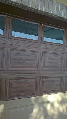 Everything I Create - Paint Garage Doors To Look Like Wood: Make A on garage floor coating options, garage door painted like wood, log homes garage doors wood, garage door faux wood paint on metal, garage door trim, garage with entry door, garage door stain diy, garage door spray-paint,