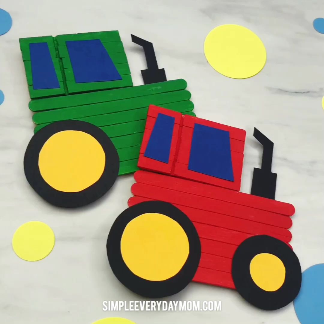 This farm craft is a fun activity for kids to make and comes with a free printable template. #kidsactivities #kidsactivity #kidscrafts #craftsforkids #farmcrafts #simpleeverydaymom #elementary #elementaryart #classroom