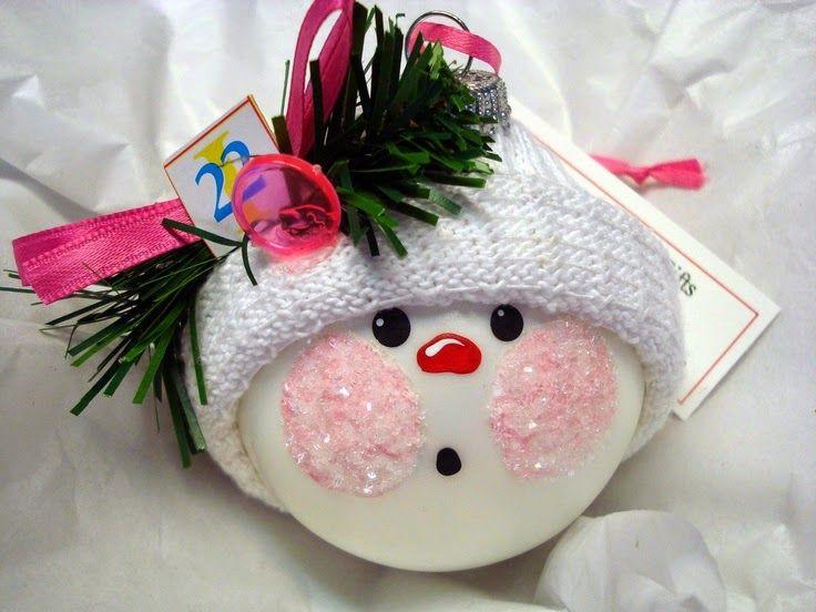 Snowman Ornament Christmas Ornaments Handmade Christmas Ornaments Christmas Crafts