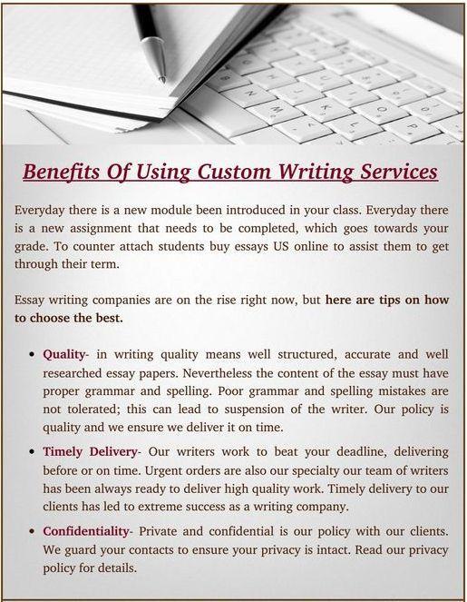 Benefits Of Using Custom Essay Writing Service