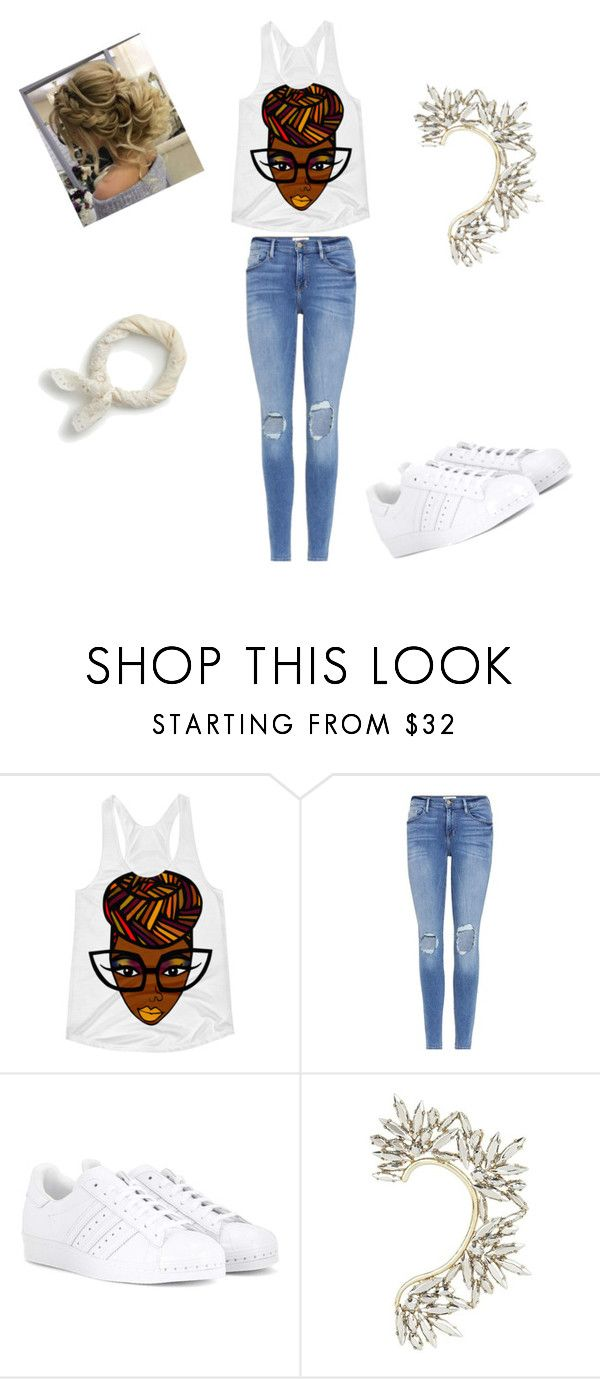 """""""School day 7"""" by sladams3 ❤ liked on Polyvore featuring Frame, adidas, BCBGMAXAZRIA and J.Crew"""
