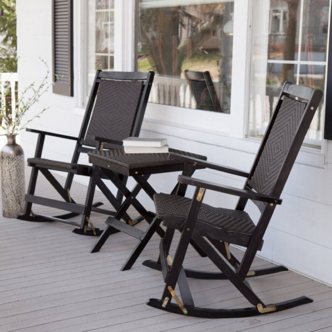 Exotic black rocking chairs household furniture in home decoration