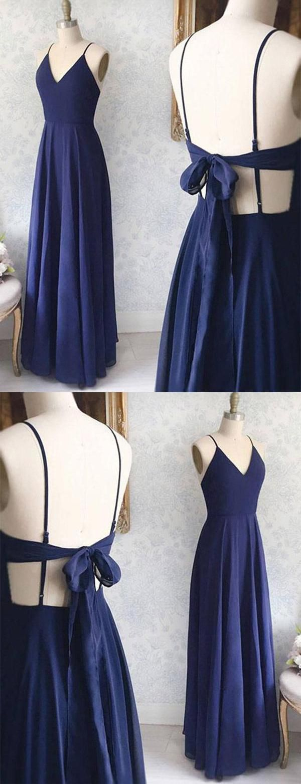 Cheap comfortable aline prom dress prom dress blue prom dress