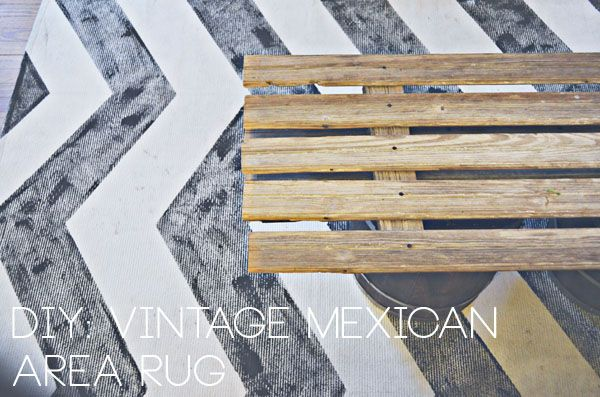 DIY: Vintage mexican inspired chevron area rug