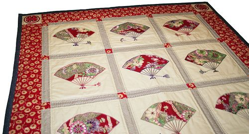 Jf 17 Japanese Fan Quilt Quilt Top