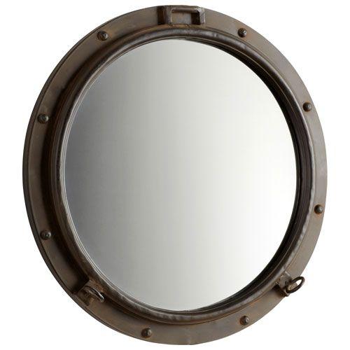 porto rustic bronze mirror cyan design round mirrors home decor