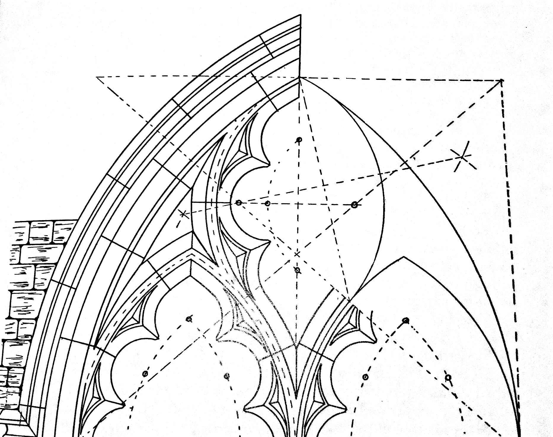 Building Drawing Gothic Architecture