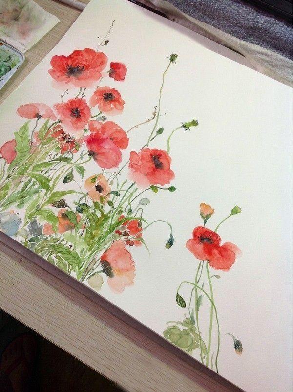 Die Besten Freie Girly Grafiken Und Aquarell Clip Stil Wasserfarbe Blumen Wasserfarbenblumen Aquarellmalerei