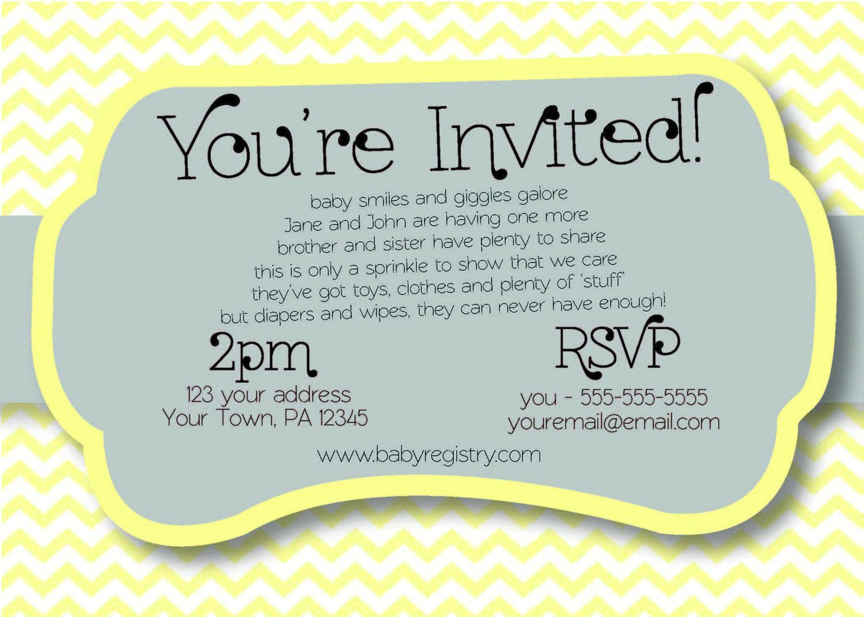 Chevron sprinkle diaper baby shower invitation pdf diy print your chevron sprinkle diaper baby shower invitation pdf diy print your own 1700 via filmwisefo Choice Image
