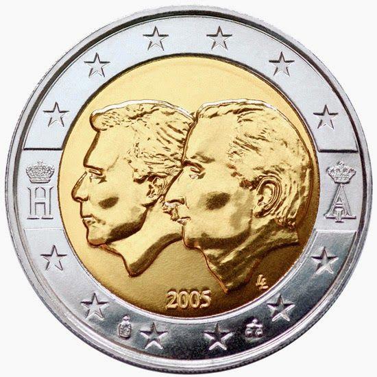 2 Euro Belgium 2005 Belgium Luxembourg Economic Union Banconota