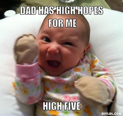 High Five Meme Google Search Funny Baby Memes Baby Memes Funny Babies