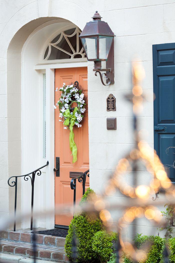 hueandeyephotography:Door with Spring Wreath, Charleston, SC2 Bedons Alley