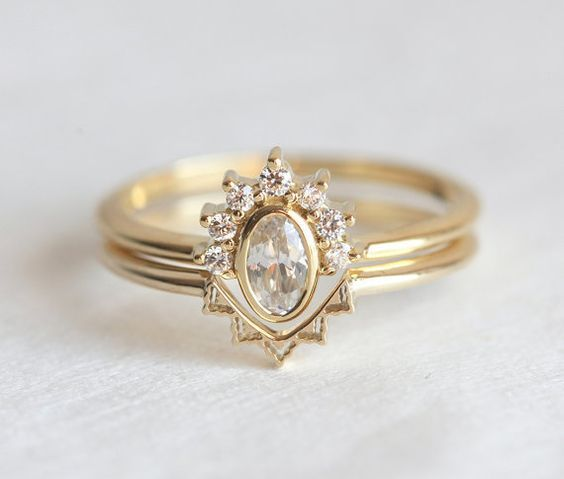 5 Nesting Wedding Rings Diamond Wedding Rings Big Wedding Rings