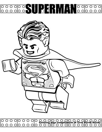Coloring Page Superman True North Bricks Lego Coloring Pages Superman Coloring Pages Coloring Pages