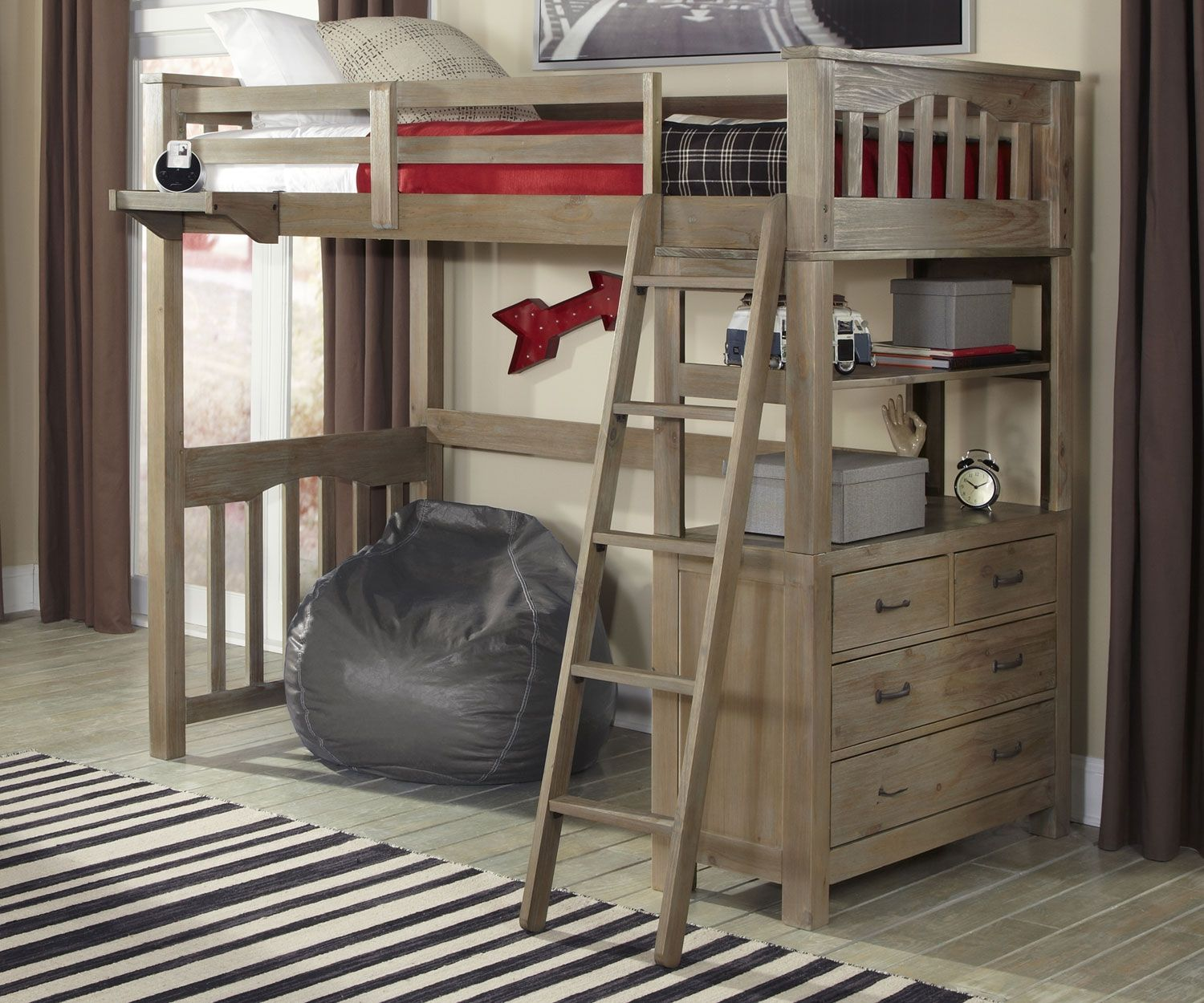 Loft bed with desk full size  Loft Bed with Desk Full Size  City Furniture Living Room Set Check