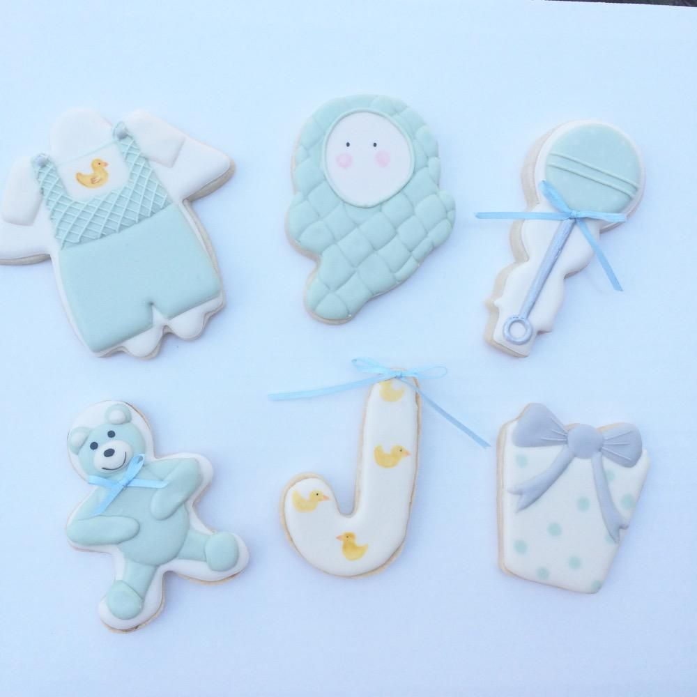 Baby Cookies Made with Christmas Cutters | Cookie Connection