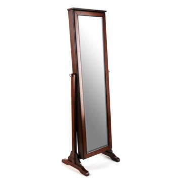 Cherry Jewelry Mirror Armoire Armoires Jewelry mirror and Storage