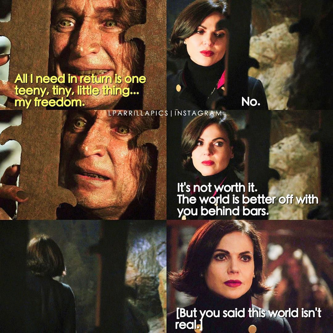 """""""The world is better off with you behind bars"""" - Regina and Rumple #OnceUponATime (by Lparrillapics)"""