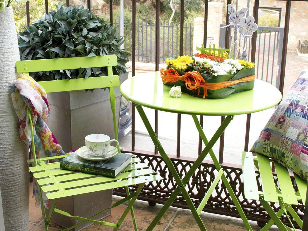 decoracion c mo limpiar los muebles de exterior On mobiliario para terrazas pequeñas