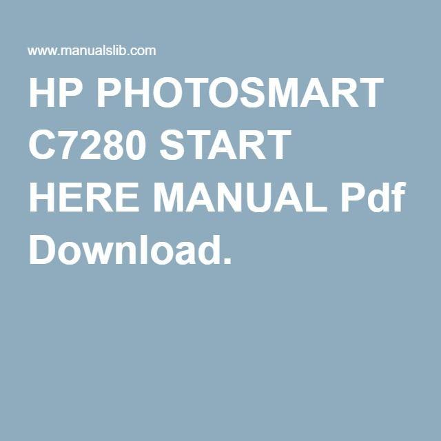 Hp c7280 printer service manual.