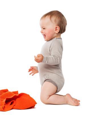 Living Crafts Organic Wool Silk Long Sleeved Bodysuit With Snaps Organic Wool Long Sleeve Bodysuit Baby Warmer