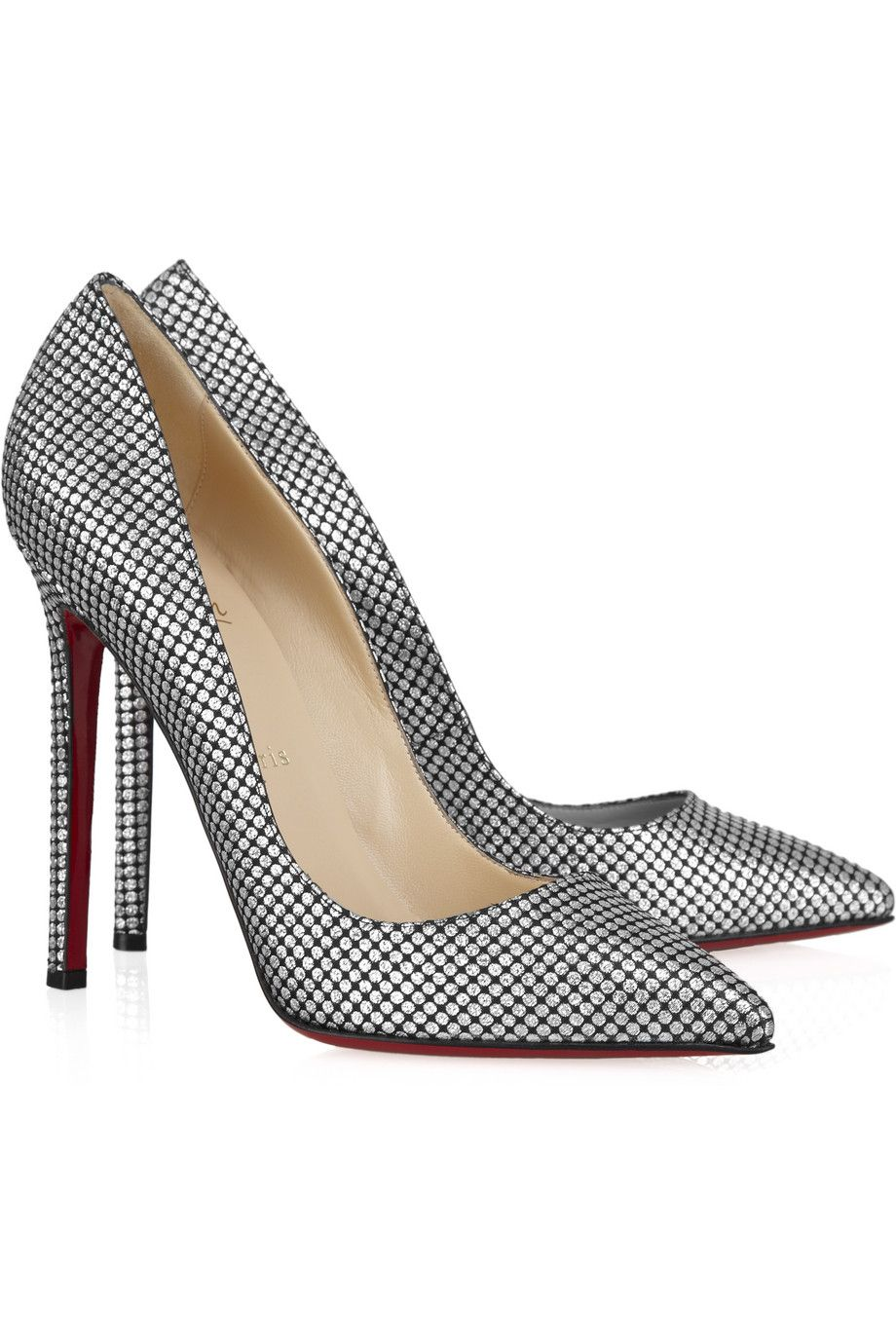 Christian Louboutin | Pigalle 120 polka-dot pump~really perfect shoes