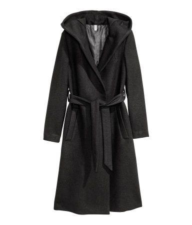 Mantel aus wollmischung grau damen