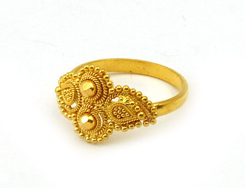 22Kt Gold Indian Ring - RiLg2936 - 22Kt Gold Ring (Indian Ring ...