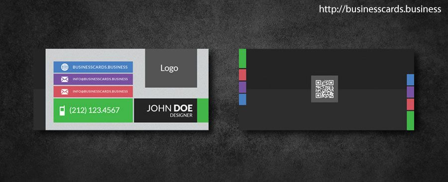 Free Mini Business Card template with flat style for Photoshop - free sample business cards templates