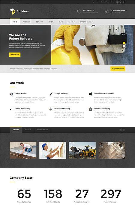 Builders Construction WordPress Theme By MyThemeshop
