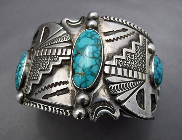 ~ Sterling Silver Turquoise Cuff ~