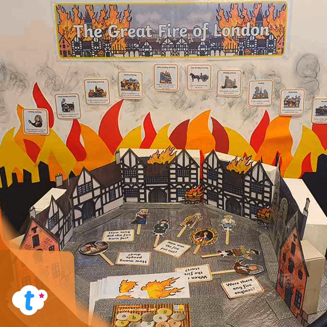 The Great Fire Of London Stick Puppets In