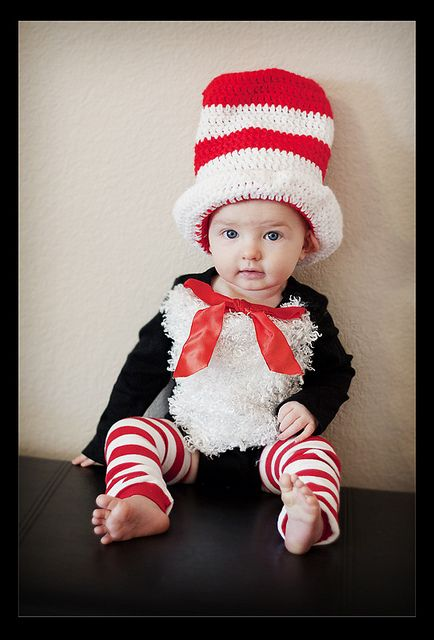 chases diy cat in the hat costume cute baby costumescrazy costumeshalloween - Baby Cat Halloween Costume