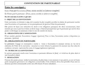 Modele De Contrat De Partenariat Ou De Sponsoring Modele De Contrat Exemple De Contrat Partenariat