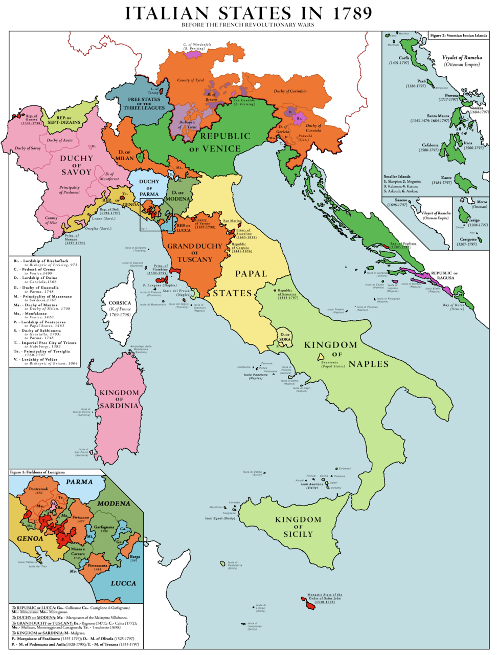 List Of Historic States Of Italy Wikipedia Historical Maps Map Italy Map