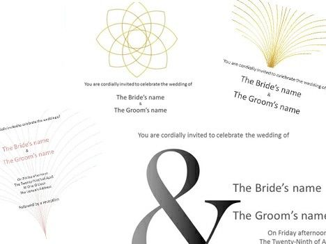 These Traditional Wedding Invitation Templates Have A Formal But Modern Design And Could Be Used F Invitation Card Format Invitation Template Formal Invitation