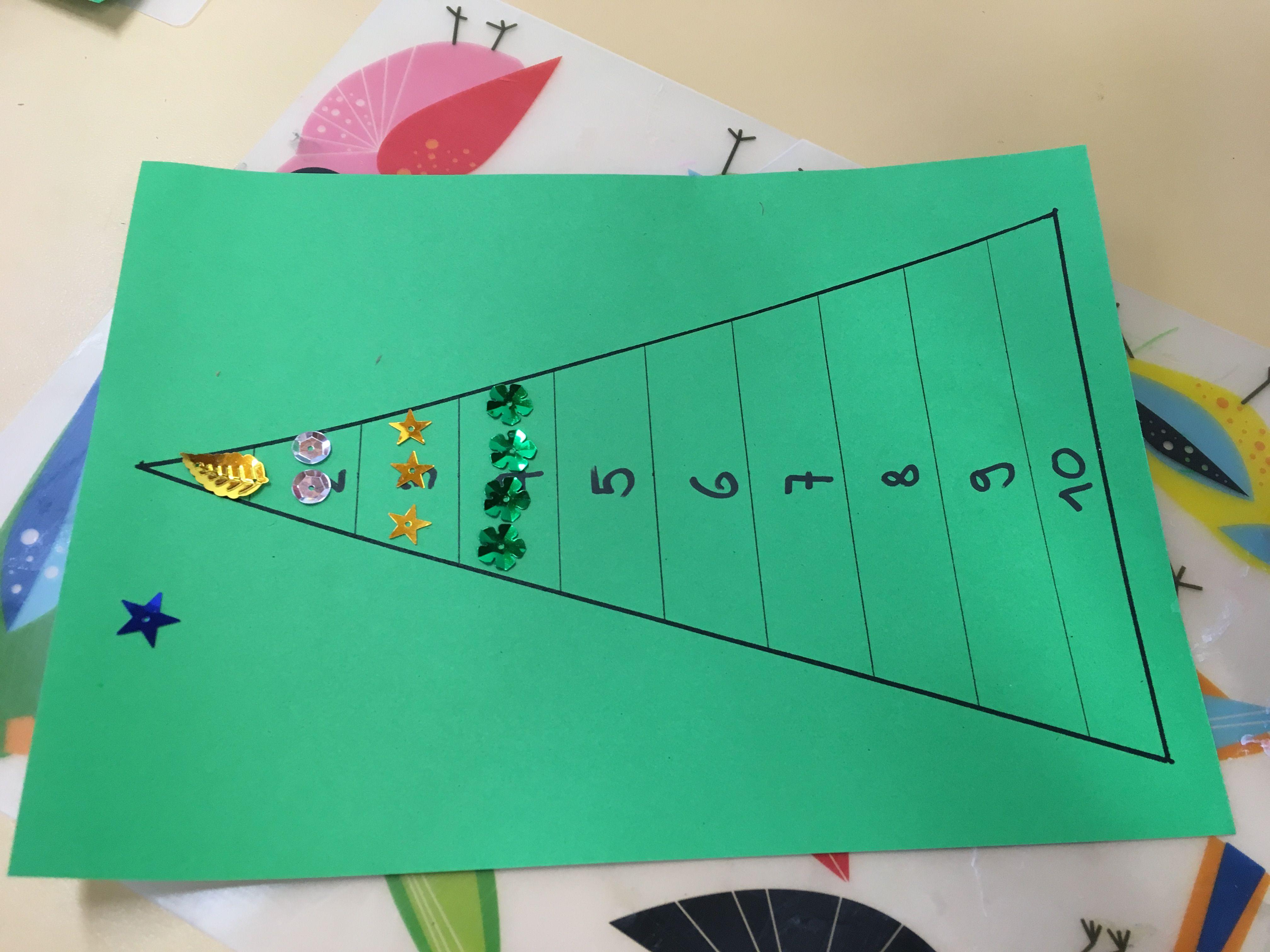 arbeitsblatt tannenbaum sortieren und zählen 1-10 | chindsgi | Pinterest