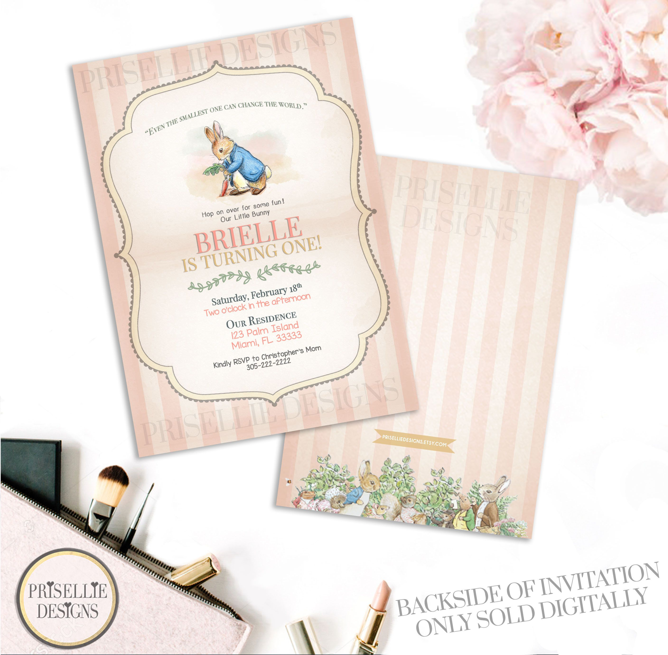 Peter Rabbit Baby Shower Invitation, Peter Rabbit Invitation, Peter Rabbit