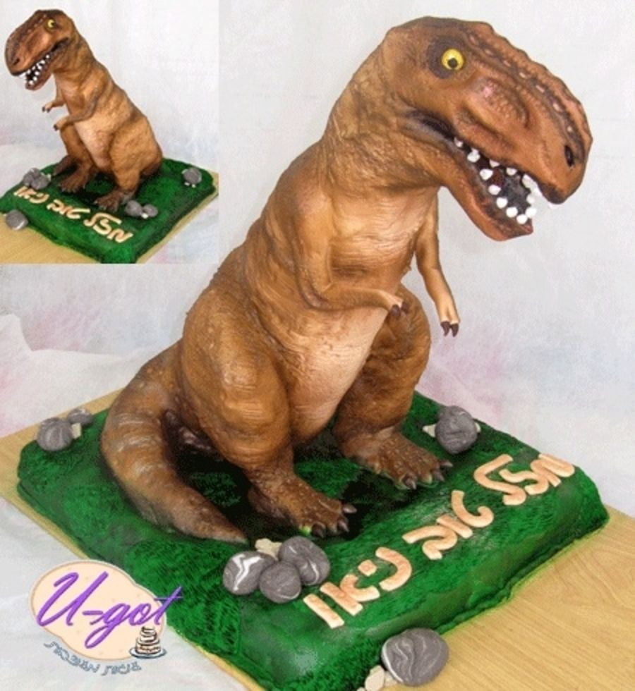 Dinosaur TRex Cake on Cake Central Jennifer Pinterest Cake